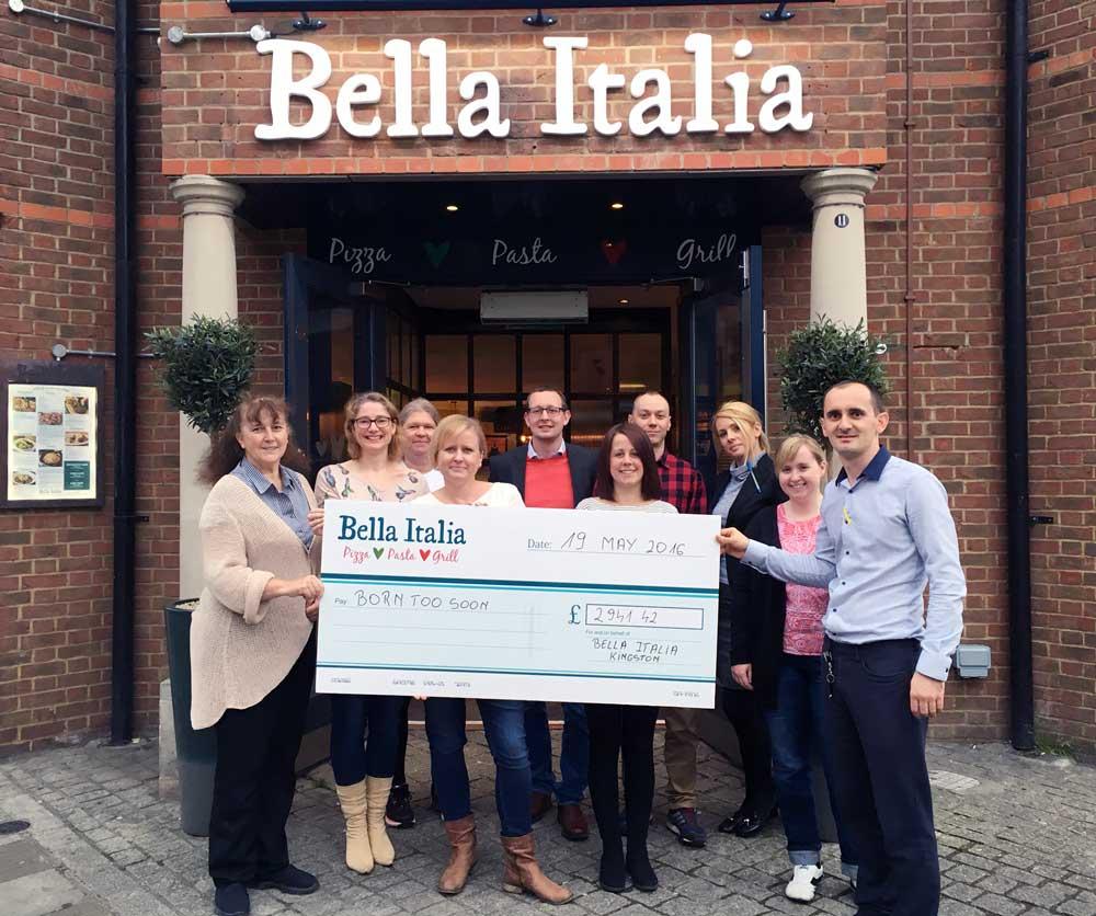Bella Italian kingston donation