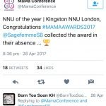 Mama Award for Best UK Neonatal Unit 2017