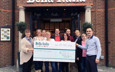 Thank you to Bella Italia, Kingston